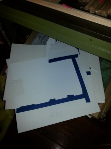 Pile of templates.